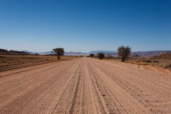 Namibia road. Dirt namibian road from Mariental to Sossusvlei Stock Photography