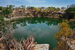 Namibia ` s Otjikoto jezioro Obraz Stock