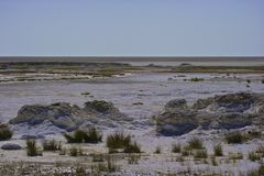 Namibia Salt Pans Royalty Free Stock Photography