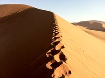 Namibia sand dunes Royalty Free Stock Photos