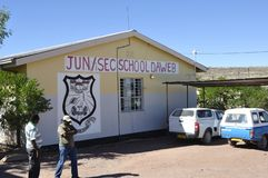 Namibia: The school for children, who lost their parents through royalty free stock image