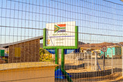 Namibia and South Africa border in Vioolsdrif Royalty Free Stock Photography