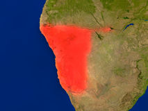 Namibia from space in red Stock Photo