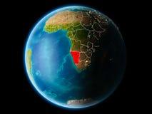 Namibia w wieczór Obrazy Stock