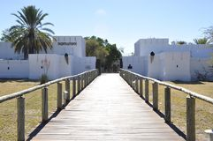 The historic Fort Namutomi of Namibia Wildlife Resorts NWR in. Namibia Wildlife Resorts NWR is running the historic Fort Namutomi in the Etosha National Park as stock image