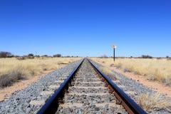 Namibian desert railway line perspective Stock Photography