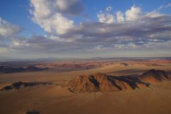 Namibia desert from the sky. stock images