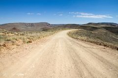 Namibian dirt road Royalty Free Stock Image