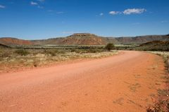 Namibian dirt road Stock Photo