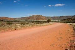 Namibian dirt road Stock Photo