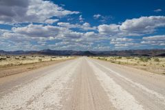 Namibian dirt road Royalty Free Stock Photo