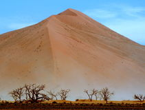 Namibian dusty dunes Stock Photos
