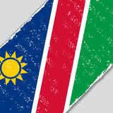 Namibian grunge flag. Vector illustration. Namibian grunge flag diagonal background. Vector illustration Stock Photography
