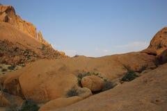 Namibian landschap Stock Fotografie