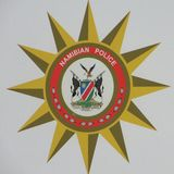 Namibian police force badge. Badge of Namibian police force royalty free stock photos