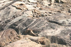 Namibian Rock Pattern Royalty Free Stock Photos