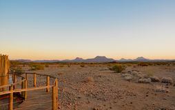 Namibian sand dunes at sunset Stock Photography