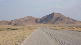 Namibian scenery. Namibian road heading into the mountains Stock Photography