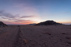 Namibian Sunset. Near Solitaire, Namibia Royalty Free Stock Images