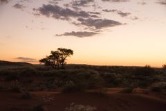 Namibian sunset Stock Photo