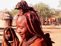 Namibian tribe himba Royalty Free Stock Photo