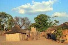Namibian Village. At Kwando River. Caprivi Strip, Namibia Royalty Free Stock Images