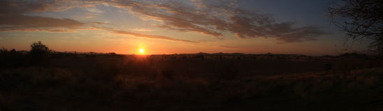 Namibian zonsondergang Stock Fotografie