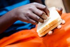 Namibijskie chłopiec ręki, Afryka Zdjęcie Stock