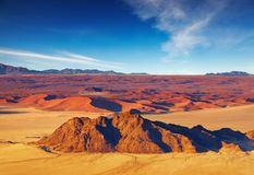 Namibische Wüste, Luftaufnahme Lizenzfreie Stockfotos