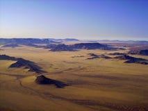 Namibische Wüste am Sonnenaufgang Stockfotografie