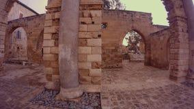 Namik Kemal Dungeon średniowieczna odbudowa, używać antykwarskie marmurowe kolumny zbiory wideo