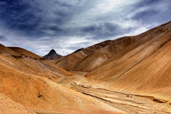 Namika La, bergpasserande av Ladakh, Jammu and Kashmir, Indien Arkivbild