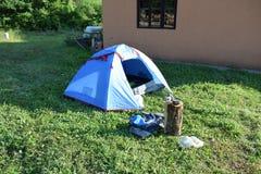 Namiot dokąd spałem Zdjęcie Stock
