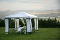 namiot na piknik Obraz Royalty Free