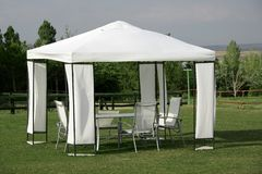 namiot na piknik Obrazy Royalty Free