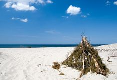 namiot na plaży Zdjęcie Stock