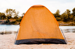 Namiot na plaży Obraz Stock