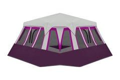 Namiot odizolowywający na bielu obraz royalty free