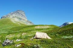 Namiot w Jotunheimen Fotografia Royalty Free