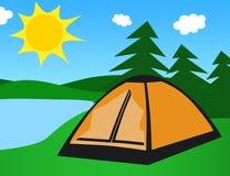 Namiot w naturze Obraz Royalty Free