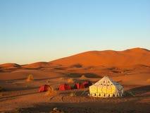 Namiot w pustyni Zdjęcie Royalty Free