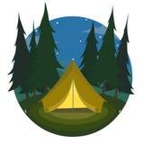 Namiotowa ikona Zdjęcie Royalty Free