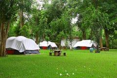 Namiotowy camping Zdjęcia Stock