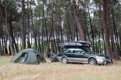 Namiotowy camping w lesie Zdjęcie Stock