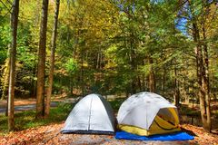 namioty campingowi obraz royalty free
