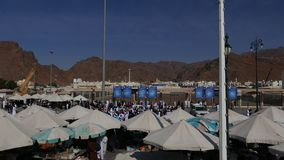 Namioty należy arabów biznesmeni sprzedaje różnorodny dobrego goście bitwa Uhud zbiory wideo