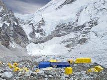 Namioty w Everest Podstawowym obozie, Nepal. Obrazy Stock
