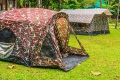 Namioty w parku narodowym Zdjęcia Royalty Free