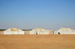 Namioty w pustyni Fotografia Royalty Free