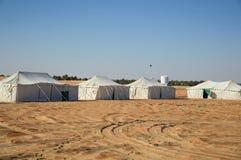 Namioty w pustyni Zdjęcia Stock